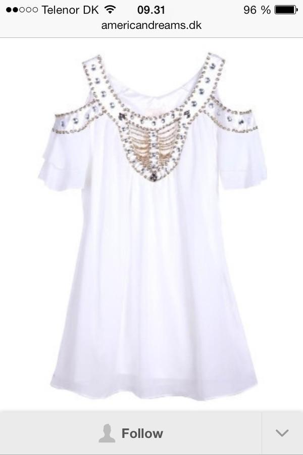 dress white dress pearl day dress