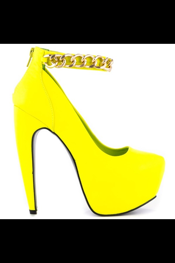 shoes yellow ankle strap