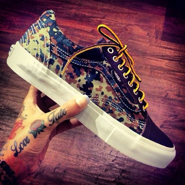 shoes vans camouflage