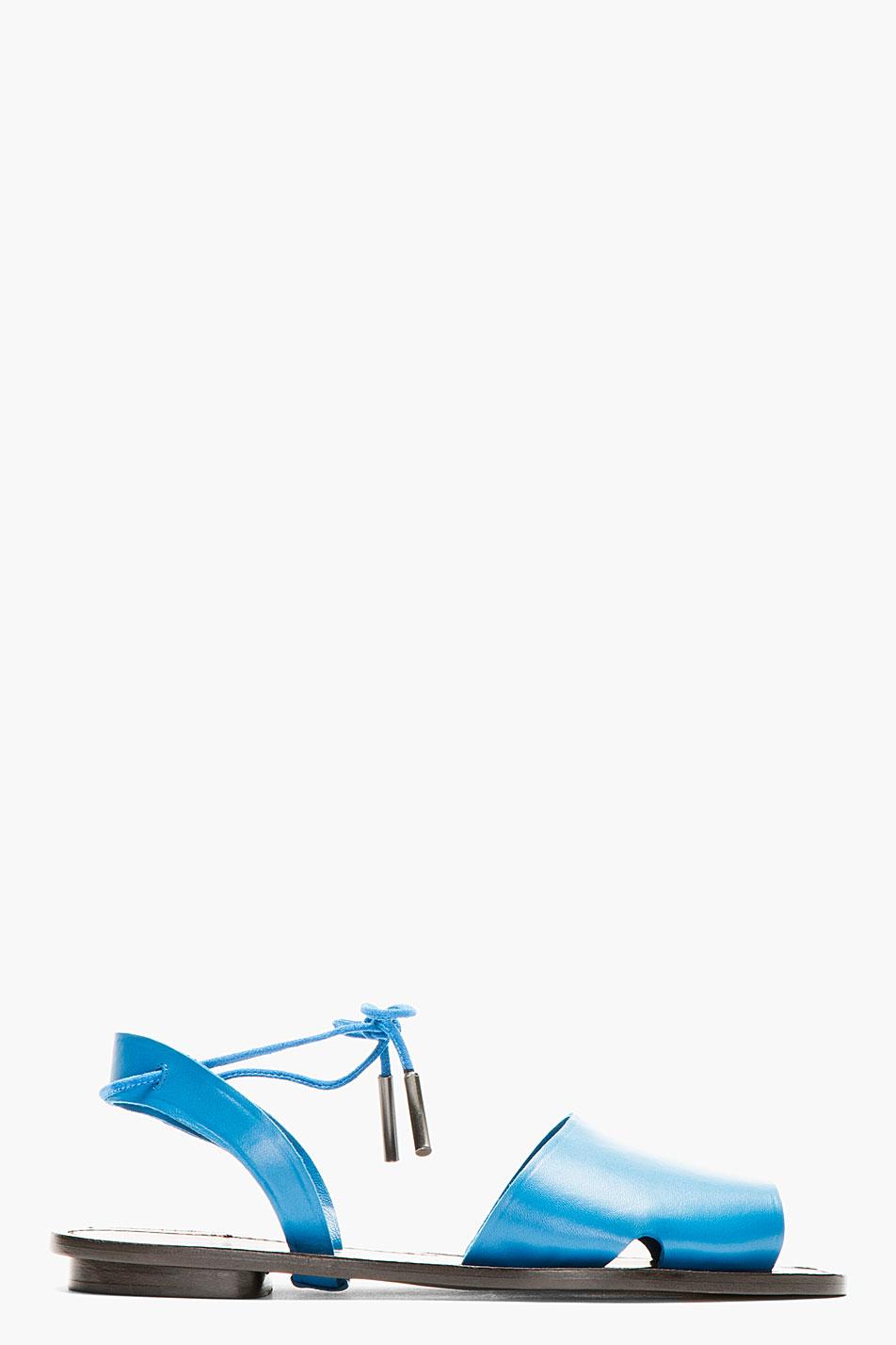 maiyet blue leather desert sandal