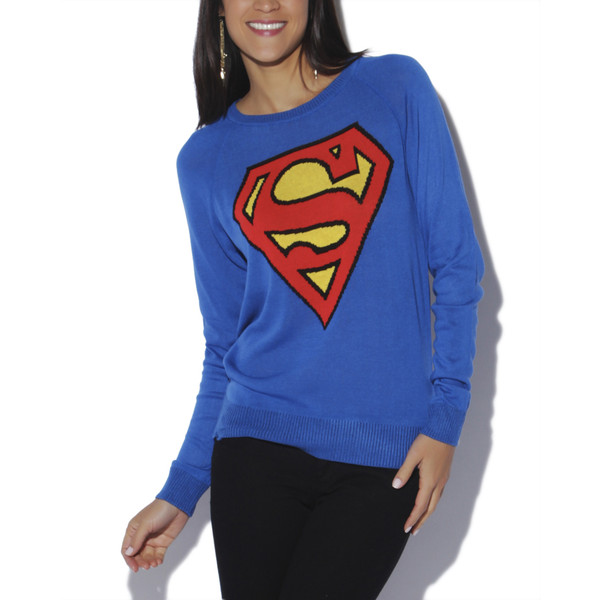 Superman Fine Gauge Sweater - Wet Seal - Polyvore
