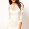 New women's black white lace sexy v neck slim 3/4 sleeve cocktail party dresses | ebay