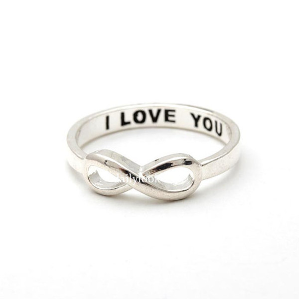 jewels jewelry ring infinity ring i love you infinity ring valentine day gift infinity i love you ring