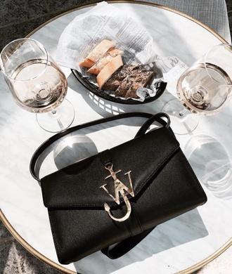 bag tumblr black bag designer bag black leather bag anchor j w anderson j.w.anderson bag