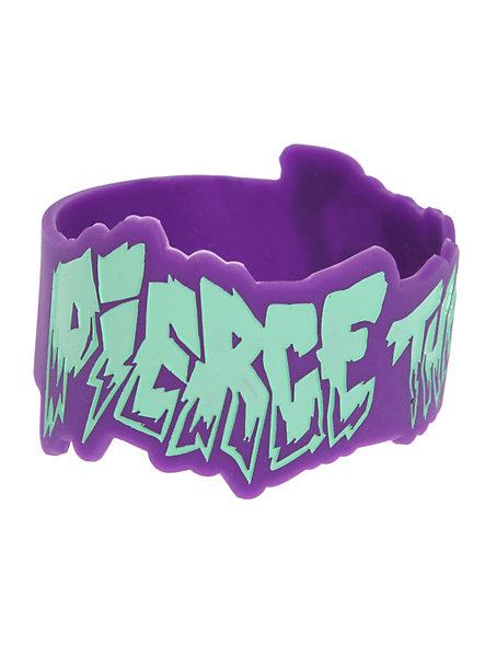 Pierce The Veil Die-Cut Logo Rubber Bracelet   Hot Topic