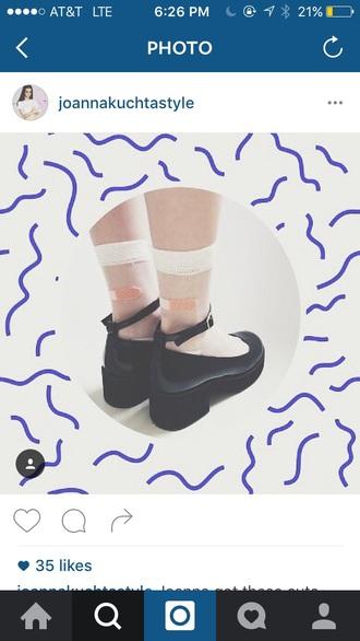 shoes joanna kuchta black ankle strap low heel