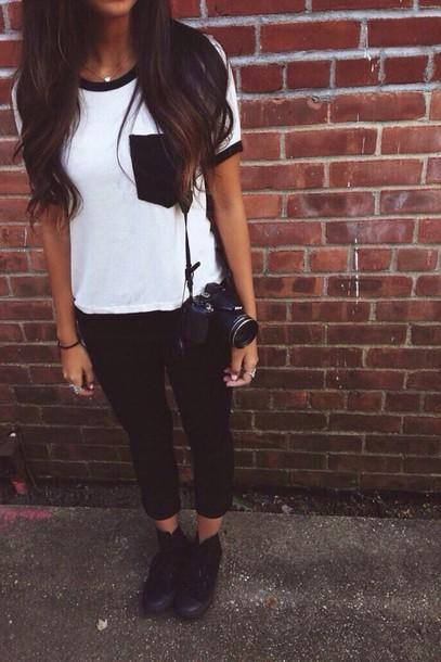 shirt balck & white