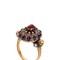 Jeweled purple swarovski ring