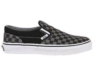 Vans Classic Slip on Men's Sz 9 0 10 0 11 0 Shoe Black Pewter Checkerboard | eBay
