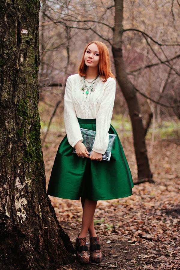 gvozdishe skirt sweater jewels bag shoes