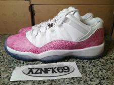 Girls AIR Jordan 11 XI Retro LOW White Pink Snake Snakeskin 2013 GS 3 5 7 Y | eBay