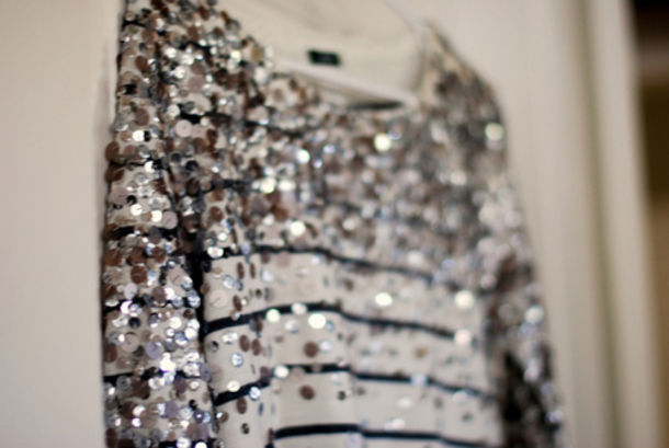 shirt sparkle sequins sweater striped shirt silver stripes stripes glitters shiny classy