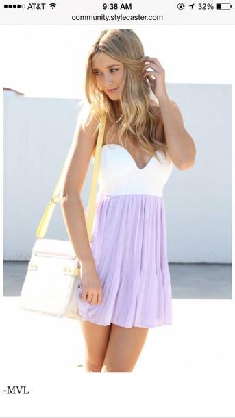 dress white and lavender dress lavender dress style
