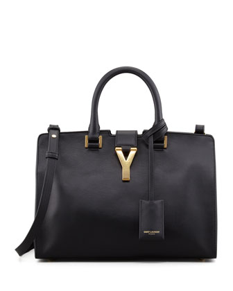 Saint Laurent Reversible Leather/Suede East-West Tote Bag, Black - Bergdorf Goodman
