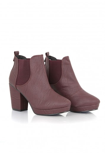 Jaidyn Leather Heeled Chelsea Boots - Boots - Footwear - Missguided