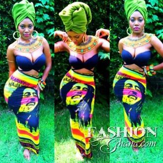 skirt pencil skirt ankle length maxi skirt bob marley jewels ethnic african american collar necklace egyptian style