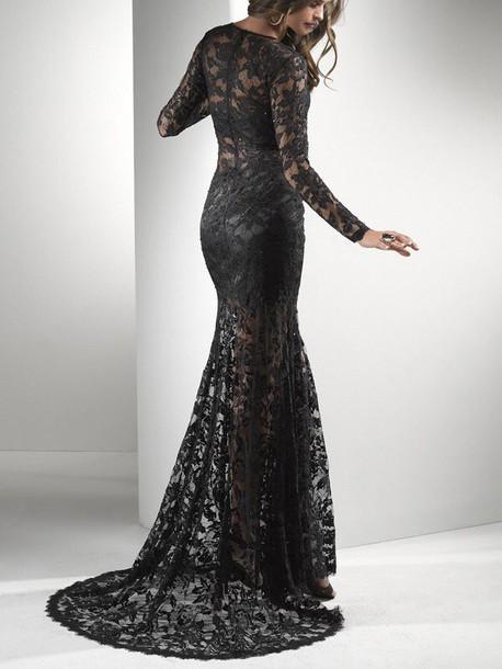 dress long floor length long sleeves