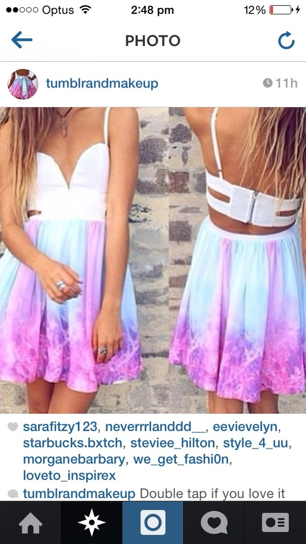 dress rainbow formal lovely tumblrdresses whe