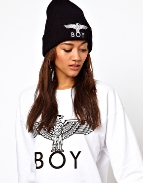 BOY London | BOY London Eagle Beanie Hat at ASOS