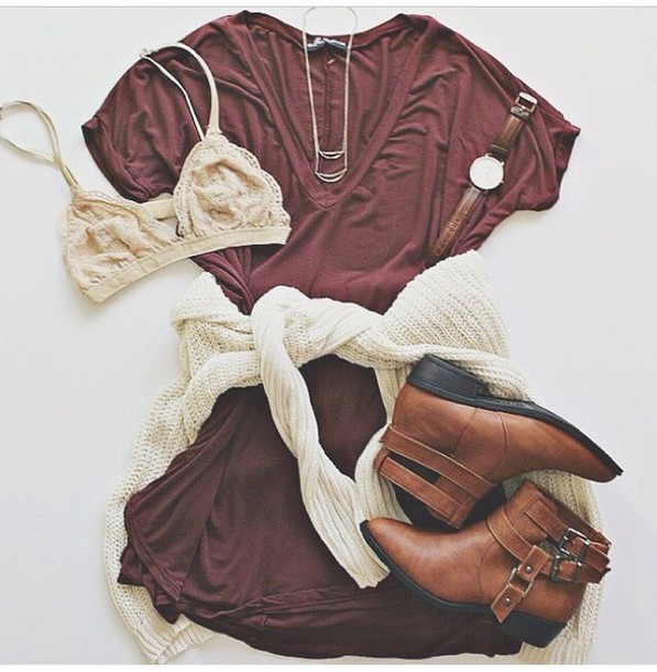 shirt burgundy shirt burgundy sweater t-shirt