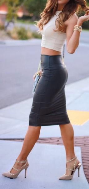 shirt skirt heels vintage elegant sp outfi style women fashion women skirt skirt and top bday ideas bday dress leather skirt