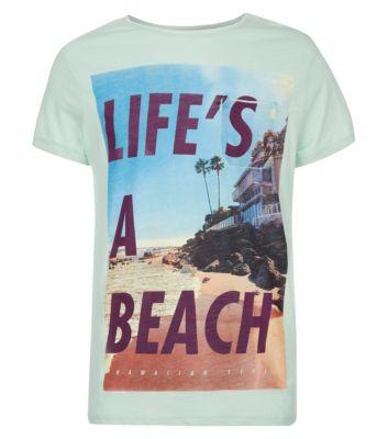 Green Lifes A Beach T-Shirt