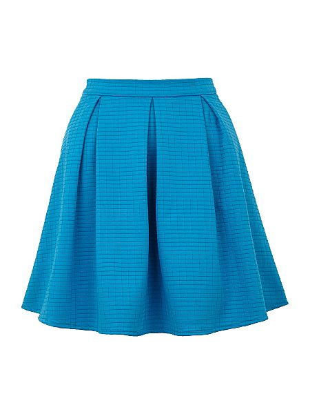 Yumi Textured skater skirt Blue - House of Fraser