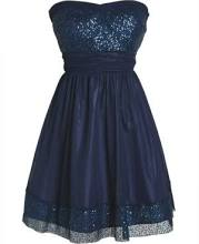 Sequin Trim Dress