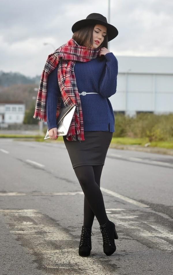 si las calles hablasen shoes skirt belt sweater hat scarf