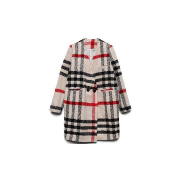 coat checkered plaid tartan wool coat wool checked coat plaid coat tartan coat