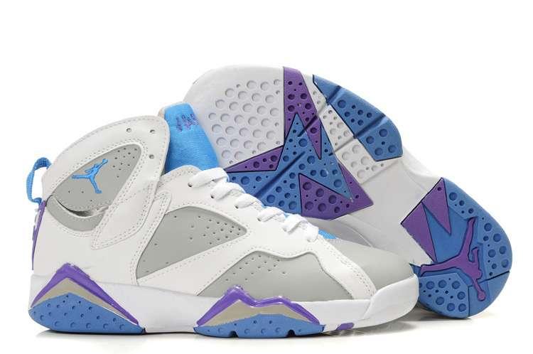 Jordan 7 women retro shoes white grey blue purple,buy New Women Jordans 7|Big Discount