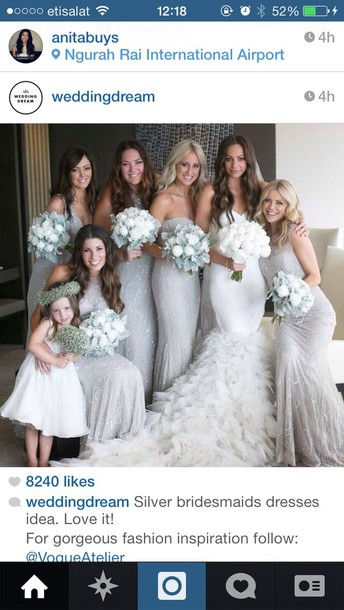 Grey Sequin Maxi Dress For Brides Mmaids Bridesmaid Dress Wedding Dress Silver Sequins Winter Wedding Wheretoget