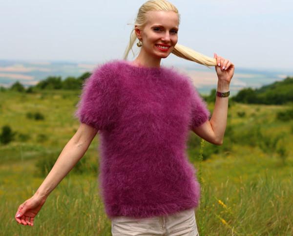 blouse hand knit made supertanya mohair sweater jumper alpaca cashmere wool angora soft fluffy fluffy
