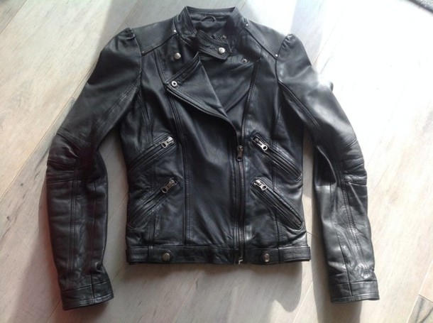 jacket zara biker