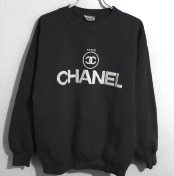 black sweater chanel