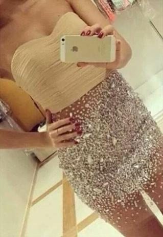Prom Dresses Chiffon Tulle Silver Rhinestones  | PromPrincess | ASOS Marketplace
