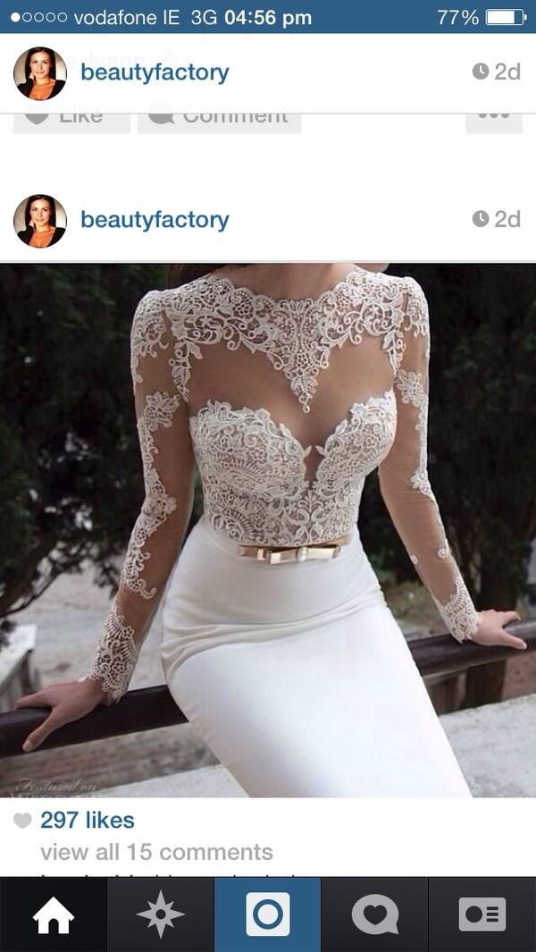 dress stunning dress white dress maxi dress formal dress floral lace dress