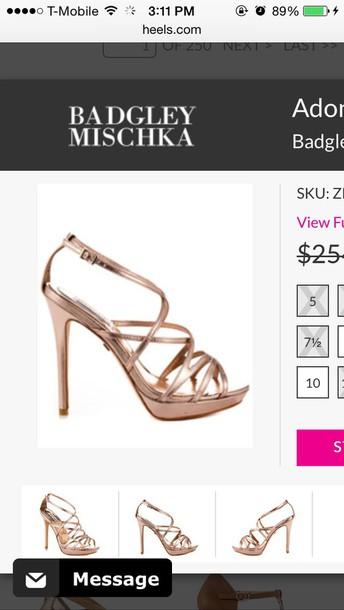 shoes rose gold heels