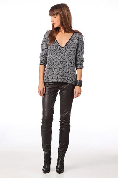 Pantalon skinny en cuir Sabrina Noir Selected Femme sur MonShowroom.com