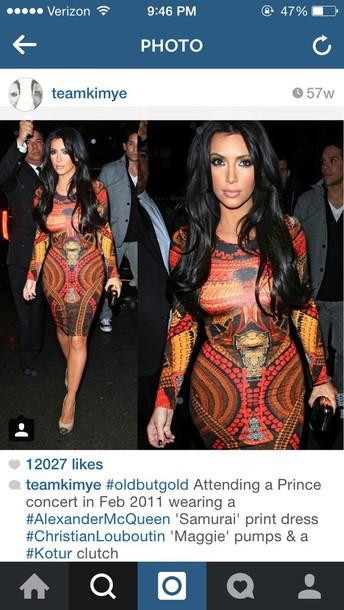 kim kardashian bodycon dress patterned dress