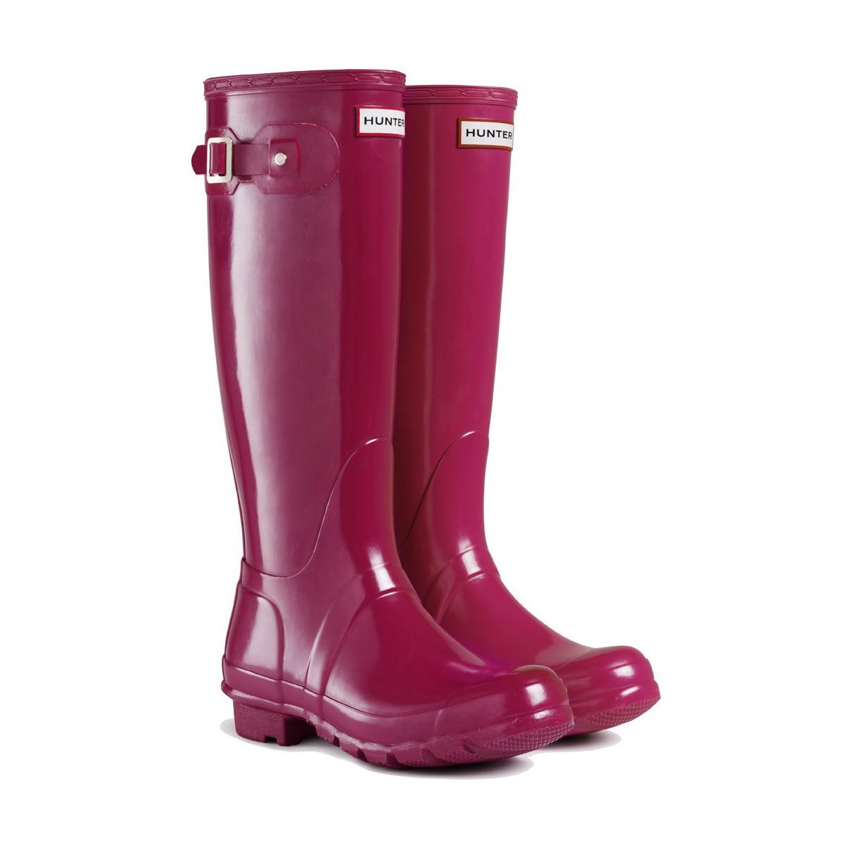 Hunter Boots Original Gloss Cranberry | Hunter Boots