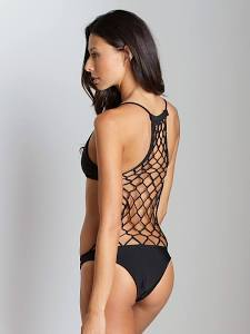 MIKOH XAVIER CROCHET ONE PIECE BATHING SUIT NIGHT on The Hunt