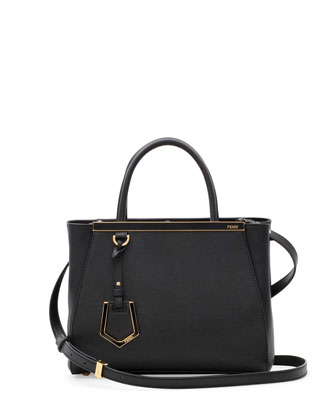 Fendi 2Jours Mini Tote Bag, Black - Bergdorf Goodman