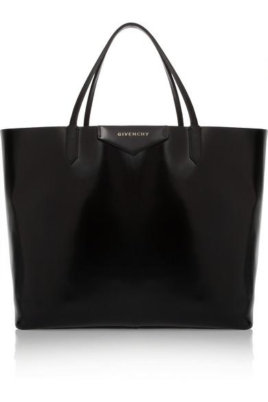 Givenchy Large Antigona shopping bag in shiny black leather NET-A-PORTER.COM