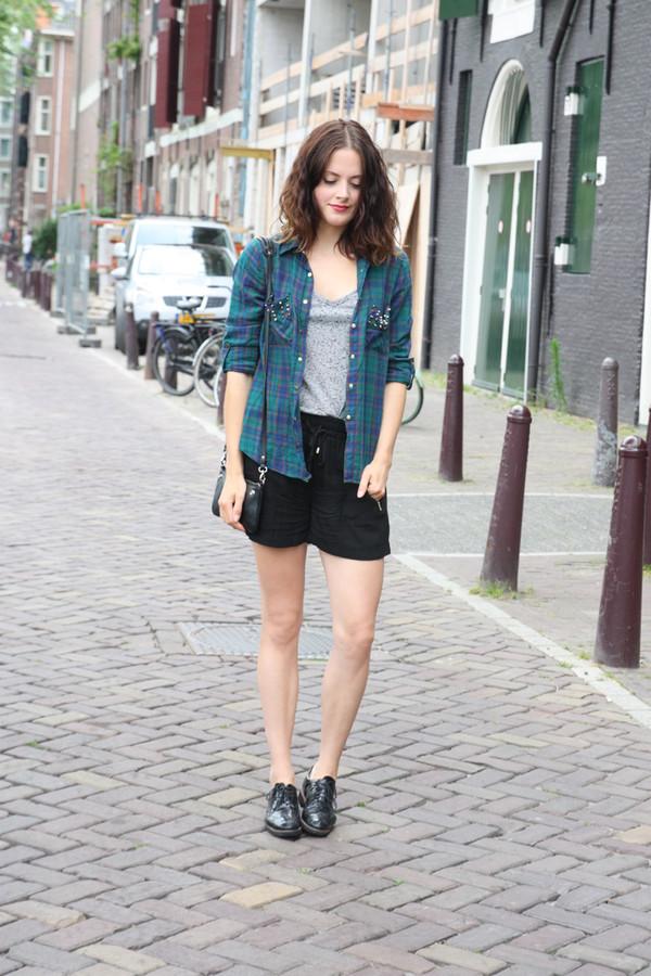 fashion fillers blouse shorts t-shirt bag