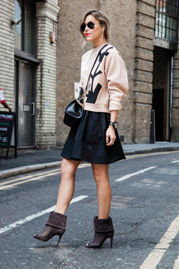 happily grey skirt shoes bag sunglasses
