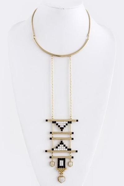 Tribal Deco Pendant Necklace                           | Fancy Friday