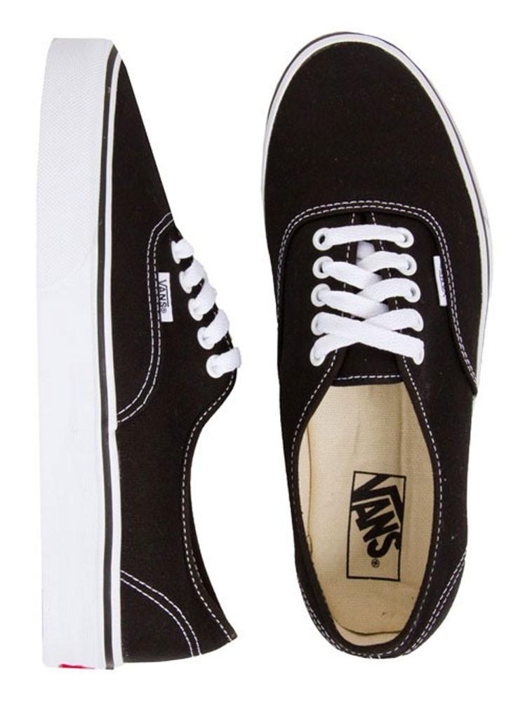 Vans Authentic Canvas Shoes - Black   SundanceBeach.com