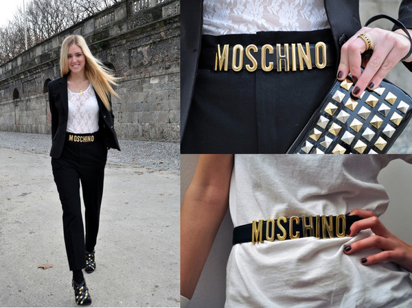 belt moschino gold