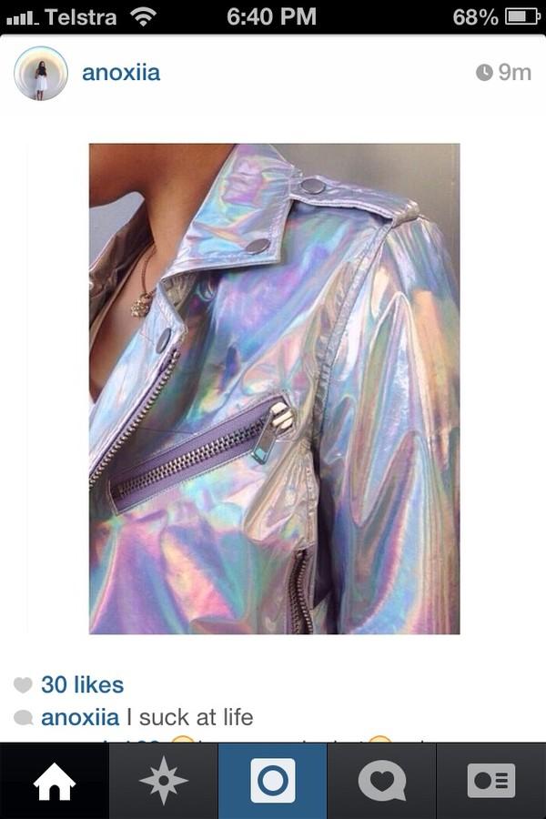 coat holographic